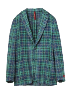 エルネスト(ERNESTO)の2B Silk&Cotton Summer Tweed Check Jacket JACKETS / ジャケット