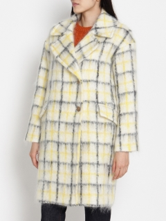 アリクアム(ALIQUAM)のmohair shaggy check coat OUTER / アウター