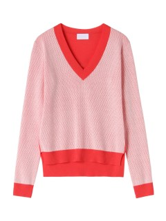 ハイアリン(HYALINES)のHYALINES Broken Color Pattern V-Neck Knit KNITWEAR / ニット