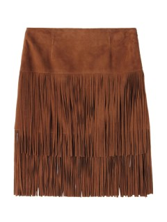 アルマローザ(Alma Rosa)のAlma Rosa Suede Leather Fringe Skirt SKIRTS / スカート